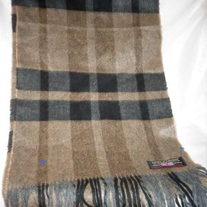 """NEW LORD'S OF LONDON 100% CASHMERE SCARF 56"""" x 12"""""""